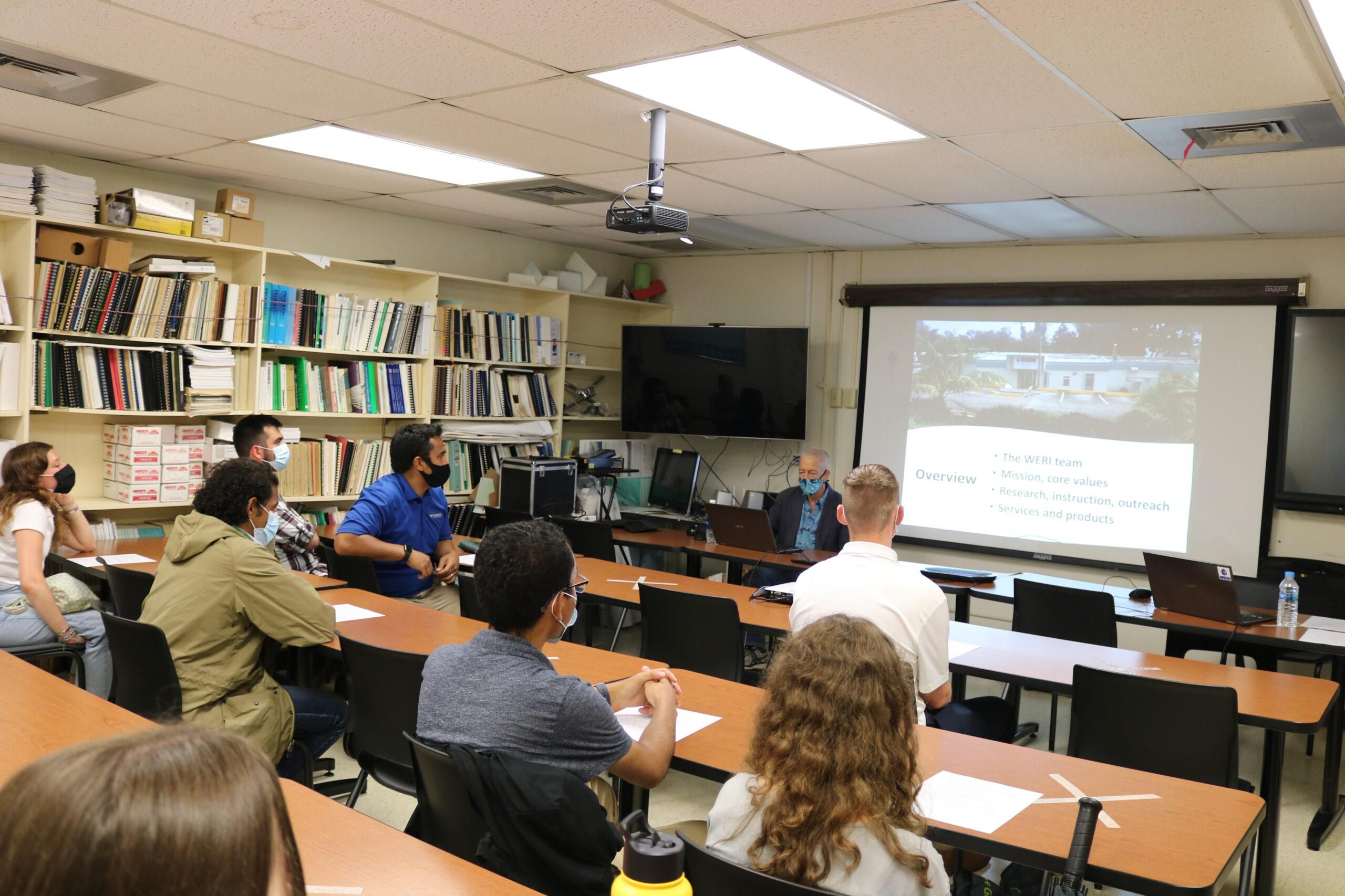 University of Pittsburg students visit WERI